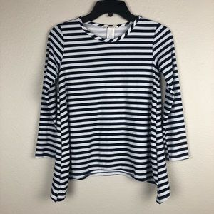 btween Navy & White Striped Long Sleeve Size 12